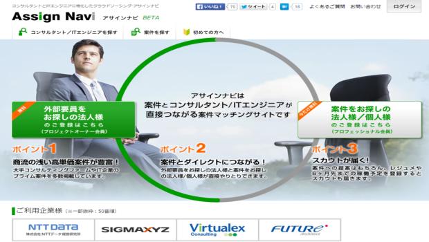 コンサル/IT特化のクラウドソーシングサイト「アサインナビ」、試用版提供開始。