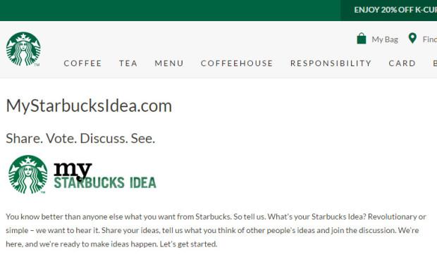 MyStarbucksIdea.com